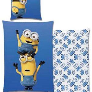 Schöne Bettwäsche aus Renforcé - blau 135x200 von Global Label