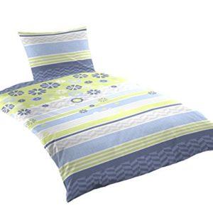 Schöne Bettwäsche aus Renforcé - blau 135x200 von Primera