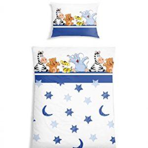 Traumhafte Bettwäsche aus Renforcé - blau 135x200 von Schiesser