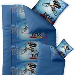 Schöne Bettwäsche aus Renforcé - blau 155x220 von CelinaTex