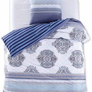 Kuschelige Bettwäsche aus Renforcé - blau 155x220 von DecoKing