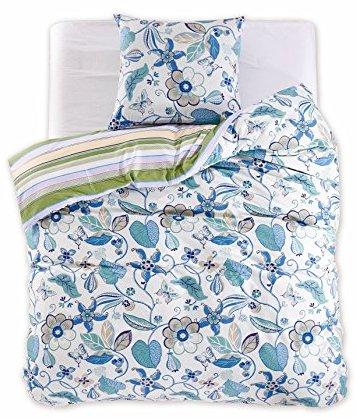 traumhafte bettw sche aus renforc blau 155x220 von. Black Bedroom Furniture Sets. Home Design Ideas