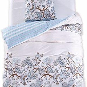 Schöne Bettwäsche aus Renforcé - blau 155x220 von DecoKing