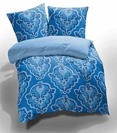 kuschelige bettw sche aus renforc blau 155x220 von et rea bettw sche. Black Bedroom Furniture Sets. Home Design Ideas