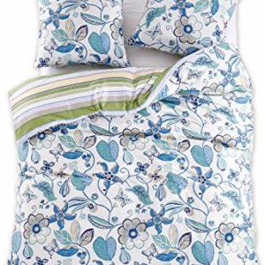 Schöne Bettwäsche aus Renforcé - blau 200x220 von DecoKing