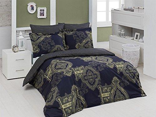 kuschelige bettw sche aus renforc blau 200x220 von elit. Black Bedroom Furniture Sets. Home Design Ideas