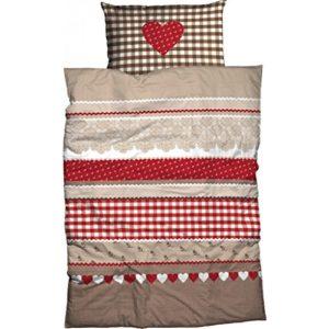 Traumhafte Bettwäsche aus Renforcé - braun 135x200 von Casatex
