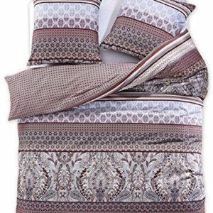 Kuschelige Bettwäsche aus Renforcé - braun 200x200 von DecoKing