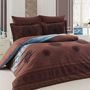 Traumhafte Bettwäsche aus Renforcé - braun 200x220 von Elit Home Collection