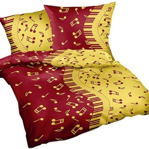 Schöne Bettwäsche aus Renforcé - gelb 135x200 von Heubergshop