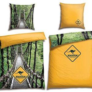 Hübsche Bettwäsche aus Renforcé - gelb 135x200 von ROADSIGN