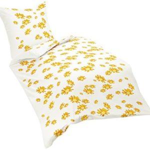 Traumhafte Bettwäsche aus Renforcé - gelb 155x220 von Dream Art