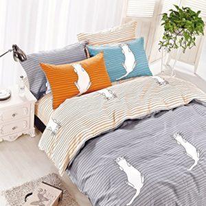 Hübsche Bettwäsche aus Renforcé - grau 135x200 von DecoKing