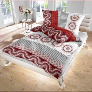 Schöne Bettwäsche aus Renforcé - grau 135x200 von Ido