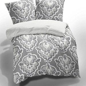 Hübsche Bettwäsche aus Renforcé - grau 155x200 von Etérea