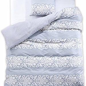 Schöne Bettwäsche aus Renforcé - grau 155x220 von DecoKing