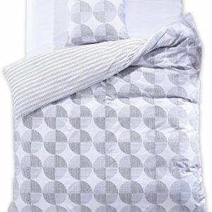 Traumhafte Bettwäsche aus Renforcé - grau 155x220 von DecoKing