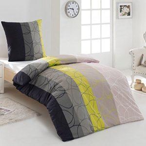 Kuschelige Bettwäsche aus Renforcé - grau 155x220 von Dreamhome24