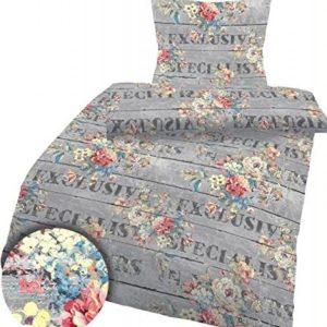 Kuschelige Bettwäsche aus Renforcé - grau 155x220 von Ido Dobnig