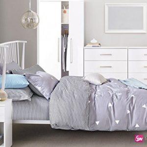 Hübsche Bettwäsche aus Renforcé - grau 200x200 von DecoKing