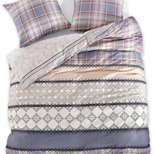 Schöne Bettwäsche aus Renforcé - grau 200x200 von DecoKing