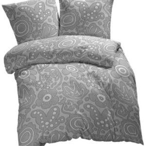 Kuschelige Bettwäsche aus Renforcé - grau 200x200 von Etérea