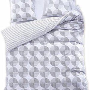 Schöne Bettwäsche aus Renforcé - grau 200x220 von DecoKing