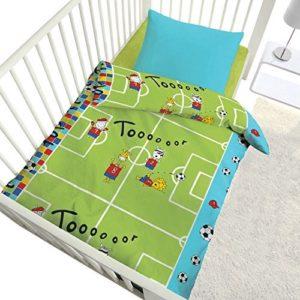 Schöne Bettwäsche aus Renforcé - grün 100x135 von Kinderbutt