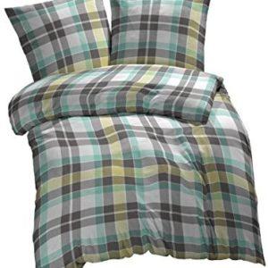 Schöne Bettwäsche aus Renforcé - grün 135x200 von Etérea
