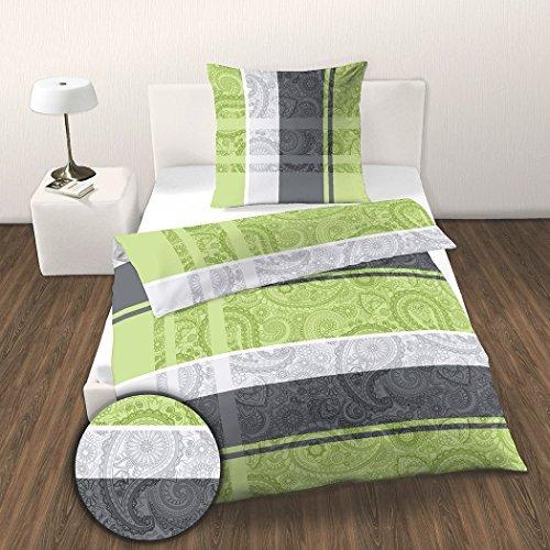 kuschelige bettw sche aus renforc gr n 135x200 von. Black Bedroom Furniture Sets. Home Design Ideas