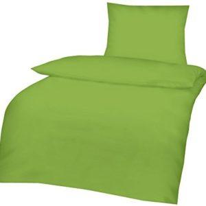 Traumhafte Bettwäsche aus Renforcé - grün 135x200