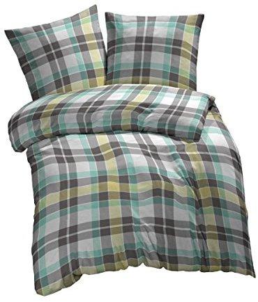 sch ne bettw sche aus renforc gr n 155x200 von et rea. Black Bedroom Furniture Sets. Home Design Ideas