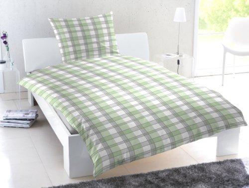 sch ne bettw sche aus renforc gr n 155x220 von. Black Bedroom Furniture Sets. Home Design Ideas