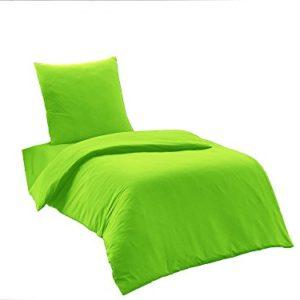 Schöne Bettwäsche aus Renforcé - grün 155x220 von Elit Home Collection