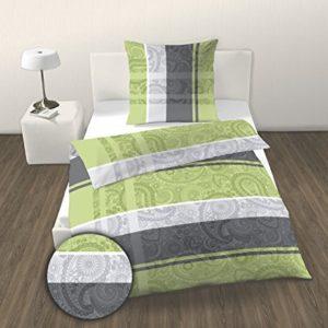 Schöne Bettwäsche aus Renforcé - grün 155x220 von Ido