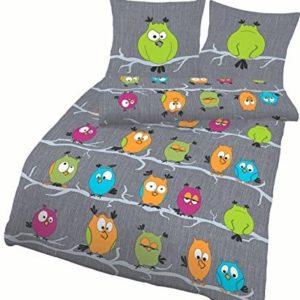 Hübsche Bettwäsche aus Renforcé - grün 155x220 von Soma