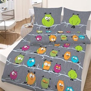 Kuschelige Bettwäsche aus Renforcé - grün 155x220