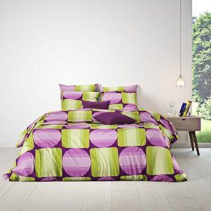 Hübsche Bettwäsche aus Renforcé - grün 200x200 von Mistral