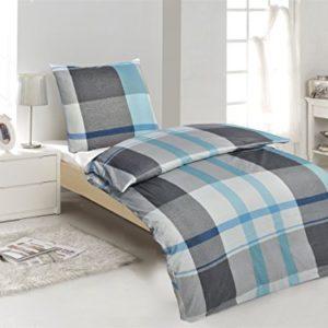 Kuschelige Bettwäsche aus Renforcé - petrol 135x200