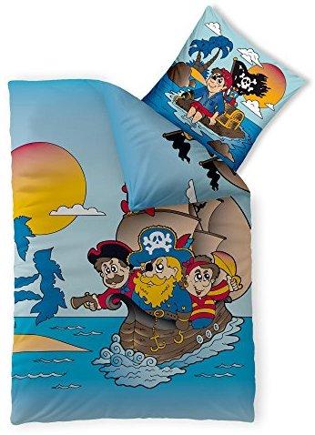 Hübsche Bettwäsche aus Renforcé - Piraten schwarz 135x200 von CelinaTex