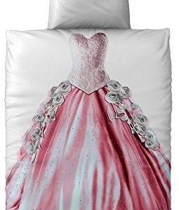 Traumhafte Bettwäsche aus Renforcé - Prinzessin rosa 135x200 von CelinaTex