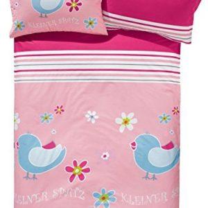Schöne Bettwäsche aus Renforcé - rosa 100x135 von Baby Butt