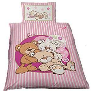 Hübsche Bettwäsche aus Renforcé - rosa 100x135 von Ido