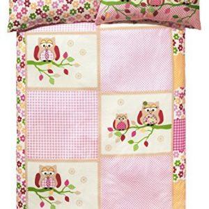 Schöne Bettwäsche aus Renforcé - rosa 100x135 von Kinderbutt