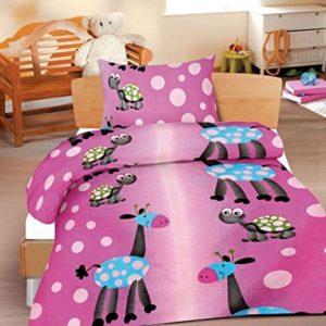 Hübsche Bettwäsche aus Renforcé - rosa 100x135