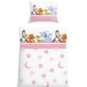 Hübsche Bettwäsche aus Renforcé - rosa 135x200 von Schiesser