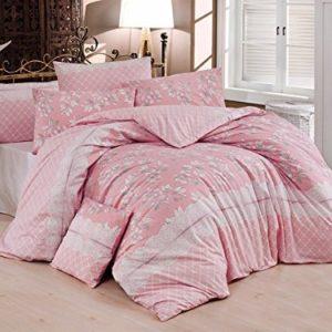 Schöne Bettwäsche aus Renforcé - rosa 155x200 von Kestex
