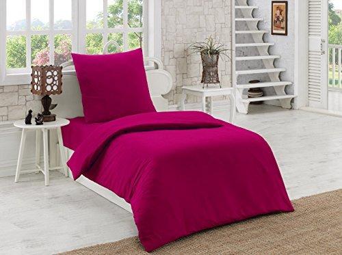kuschelige bettw sche aus renforc rosa 155x220 von elit. Black Bedroom Furniture Sets. Home Design Ideas