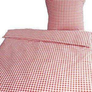 Kuschelige Bettwäsche aus Renforcé - rot 135x200 von Bettendreams