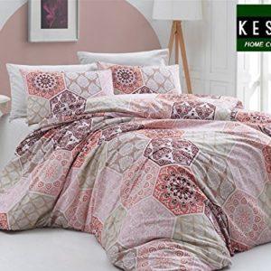 Traumhafte Bettwäsche aus Renforcé - rot 135x200 von KESTEX